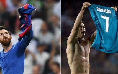 Lionel Messi (izquierda) y Cristiano Ronaldo.