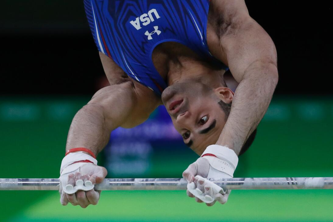 En fotos: Las dos medallas de plata que el gimnasta estadounidense Danel...