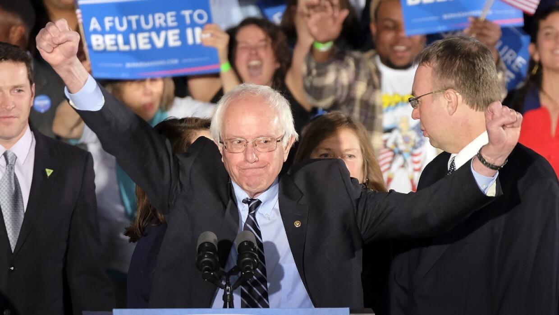 Sanders dijo sentirse seguro de que llegará a la Casa Blanca.
