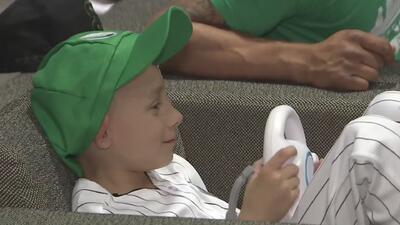 Un niño con cáncer cumple su sueño de llegar a las Grandes Ligas