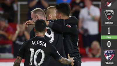 D.C. United se mete en zona de playoffs con sufrido triunfo sobre FC Dallas