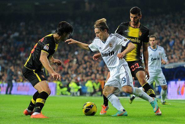 El ex del Tottenham fue titular en contra del Zaragoza.