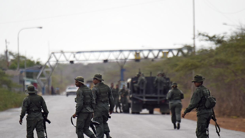 Soldados venezolanos en la frontera con Colombia. (Imagen de Archivo).