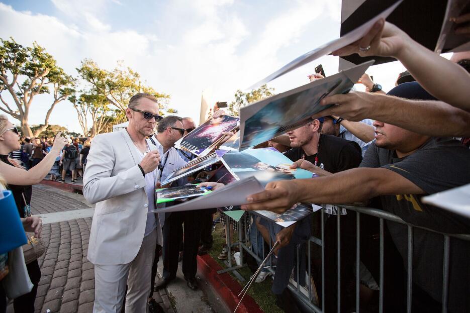 El actor de 'Star Trek Beyond', Simon Pegg, asistió a la premier de la p...