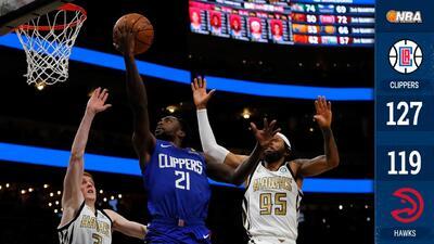 Los Clippers vencen a los Hawks y ganan su quinto partido al hilo