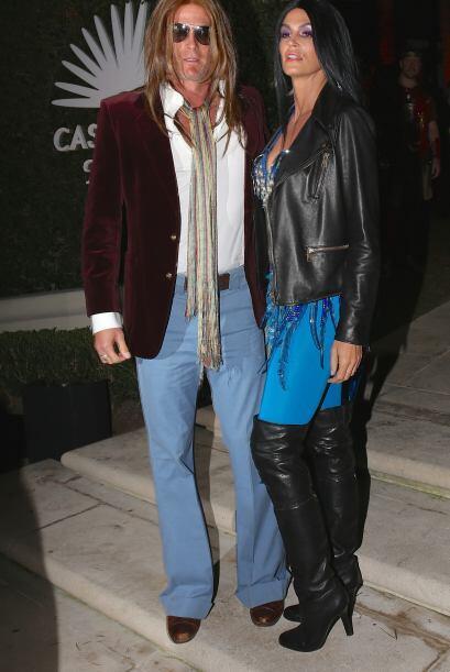 La pareja que no pudo faltar a pesar de que su mejor amigo George Cloone...