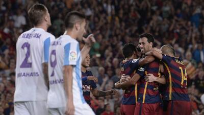 El cuadro culé se llevó la victoria en el Camp Nou ante el Málaga.