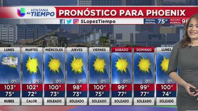 Nublados y probabilidad de lluvias para este lunes en Arizona