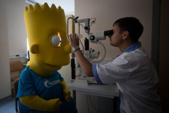 Bart realizó las pruebas físicas para ser 'contratado'.