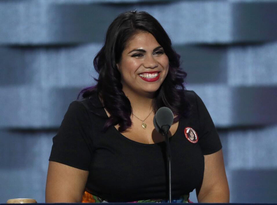Astrid Silva, de Nevada, en la Convención Nacional Demócrata.