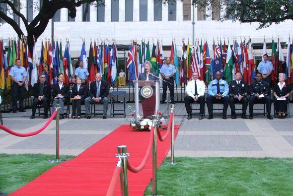 El evento se llevó a cabo en el parque Hermann Square ubicado en la part...