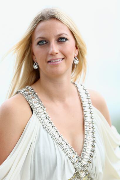 Petra Kvilova mostró su lado sexy.