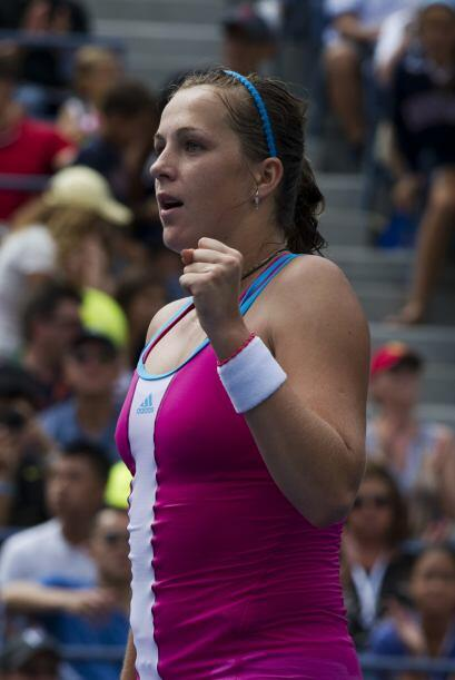 La rusa Anastasia Pavlyuchenkova[17] derrotó a Francesca Schiavone[7] d...