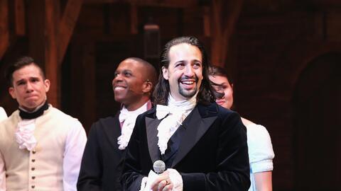 Lin-Manuel Miranda en una puesta en escena del musical Hamilton el 6 de...