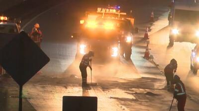 Tráfico complicado en la autopista 101, en el área de Hollywood, por un accidente mortal
