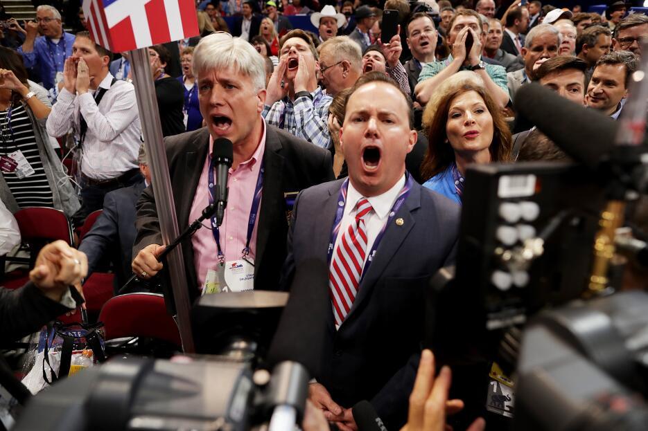 Los delegados de Utah se oponen a la votación para nominar a Donald Trum...