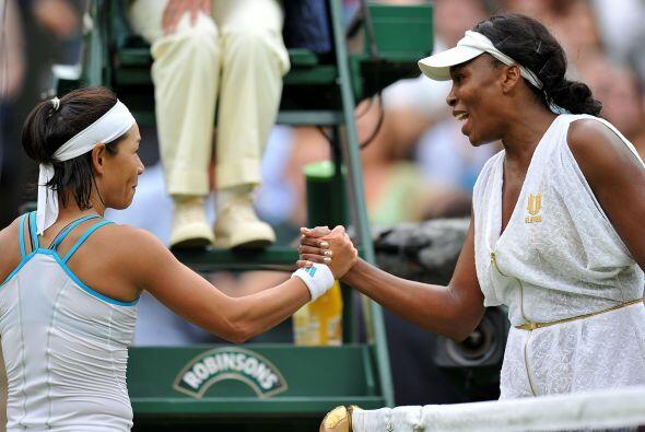 Sí es cierto que en la segunda ronda a Venus le cruzó la japonesa Kimiko...