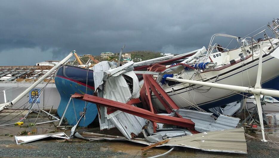 En esta escena tomada de un video, daños provocados por el huracán Irma...