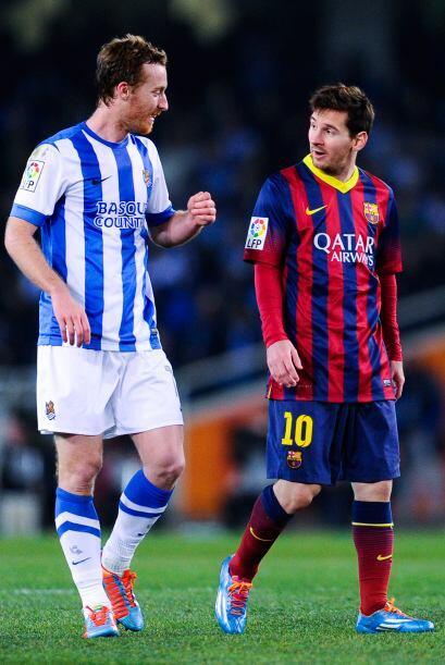 ¿David Zurutuza le habrá pedido la camiseta a Messi al final del partido?