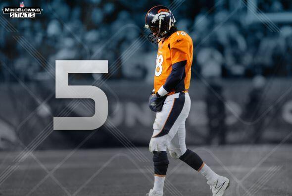 10 En casa: Peyton Manning ha perdido cinco juegos de playoffs en casa,...