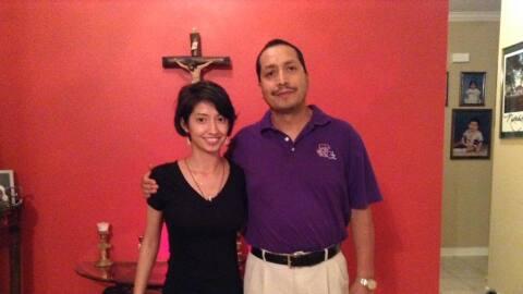 En esta fotografía se puede ver a Diana junto a su padre, Alejandro Zaca...