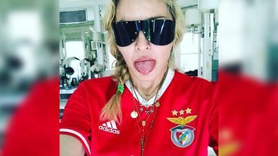 Madonna con la camiseta de Portugal