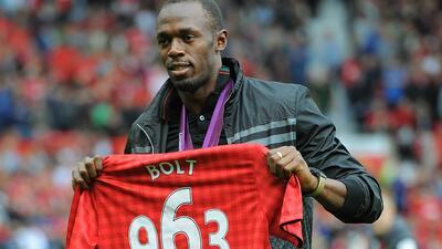 Usain Bolt es gran fanático de Manchester United