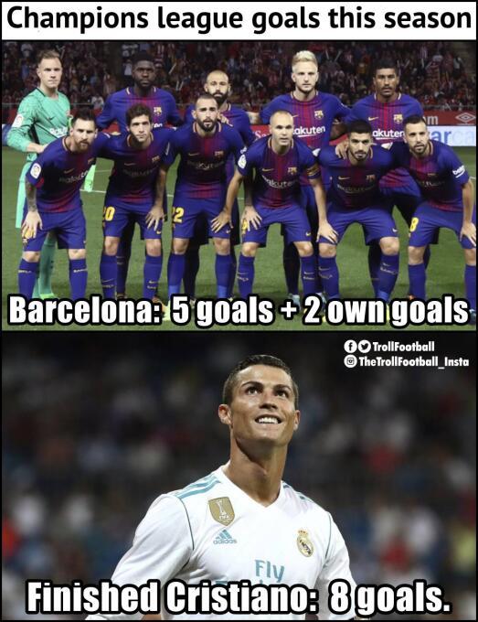 Real Madrid y CR7 golearon en la Champions y en los memes dpl9unhvoaah7l...