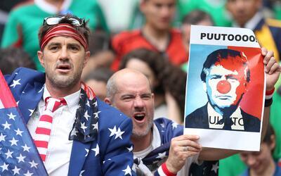 Seguidores de la selección de fútbol de Estados Unidos en...
