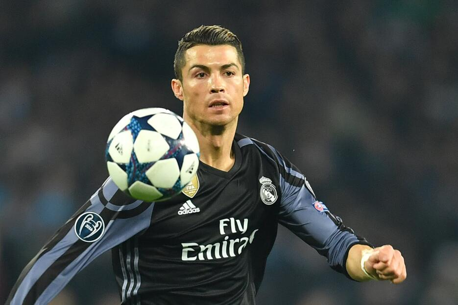 Real Madrid's Portuguese forward Cristiano Ronaldo during the UEFA C...