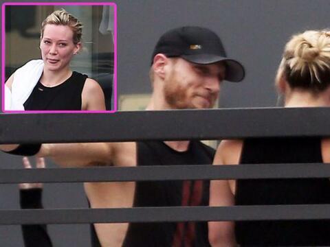 Al parecer Hilary no sólo va al gimnasio a entrenar.