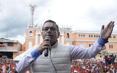 El entonces candidato presidencial Manuel Baldizón durante la cam...