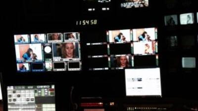 Sala de control de la televisora en San Francisco