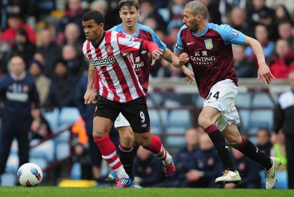 Aston Villa y Sunderland no se hicieron daño y quedaron a mano. Empate 0...