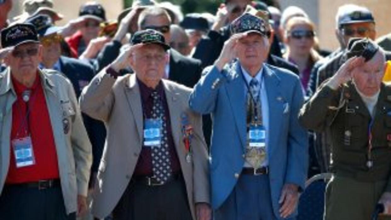Veteranos del desembarco de Normandía en los festejos del 70 Aniversario...