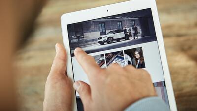 El servicio Care by Volvo puede ser utilizado a través de dispositivos m...