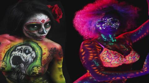 Artista hispano de Chicago convirtió cuerpos humanos en lienzos