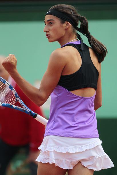 Caroline García trató de tomar ventaja del apoyo de la afición parisina.