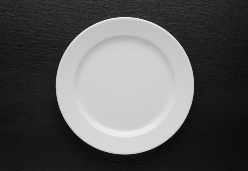 plato blanco