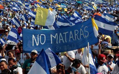 "La marcha convocada por la Iglesia Católica ""por amor a Nica..."