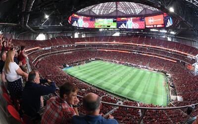 La multitud que llenó el Mercedes-Benz Stadium el pasado s&aacute...