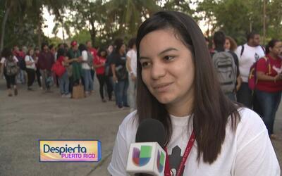 Estudiantes de Puerto Rico afirman que seguirán haciendo presión para ev...
