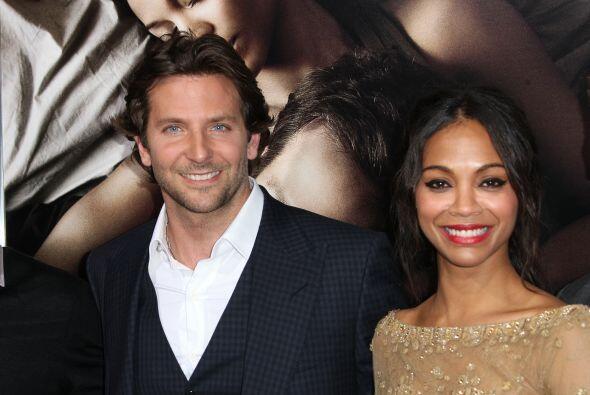 Bradley Cooper y Zoe Saldana fue uno de los romances más sonados,...