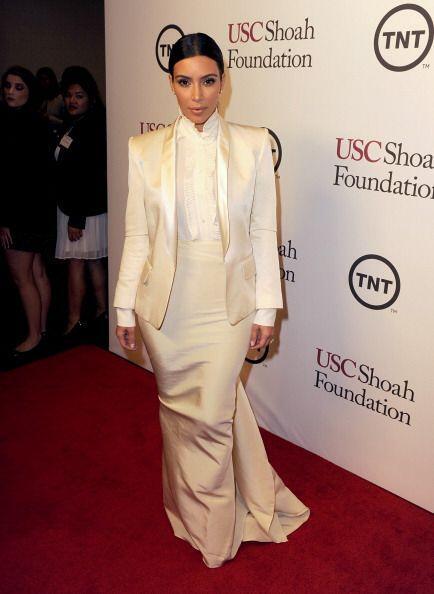 Aunque no mostró más de la cuenta, a Kim nunca le puede faltar su estilo...