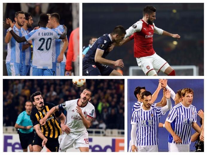 Con goleadas y clasificaciones, así se jugó la jornada de Europa League...