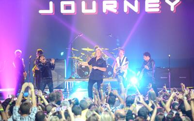 NASHVILLE, TN - JUNE 06: Rascal Flatts perform with Journey onstage at t...
