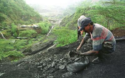 Mina de esmeraldas en Boyacá, Colombia, propiedad de la familia C...