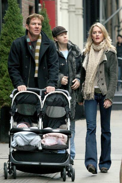 Los pequeños Thomas y Zoe fueron los gemelos que el actor, Dennis Quaid...