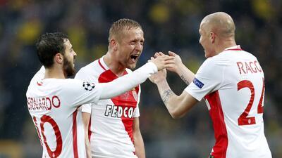 Mónaco sorprendió a Borussia Dortmund en Alemania en los cuartos de final de Champions