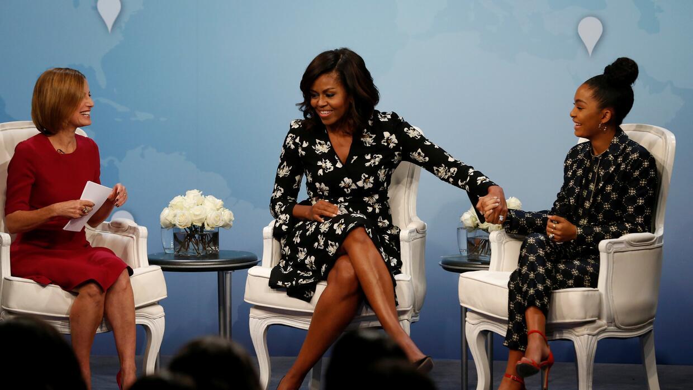 Michelle Obama durante un evento sobre educación en la Casa Blanca con l...